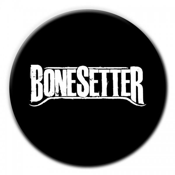 BONESETTER Button schwarz Durchmesser 2,5 cm